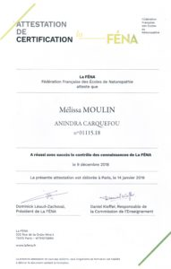 attestation la FENA