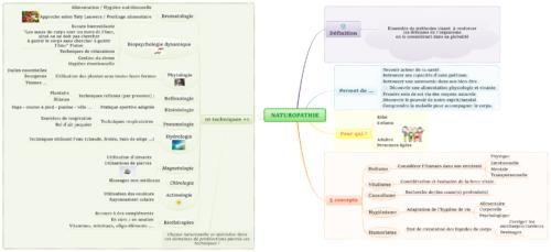 mindmap explications de la naturopathie