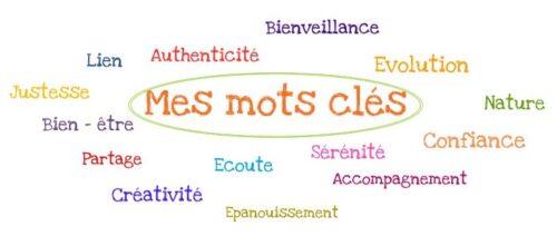 Mes valeurs et mots clés